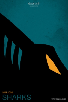 Sharks Minimalist logo