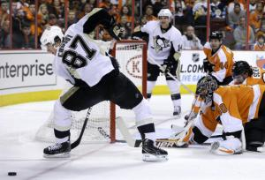Pens Flyers Mel Evans AP 1-19-13