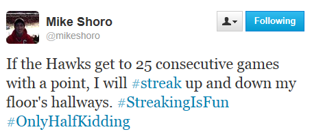 Shoro Streak tweet
