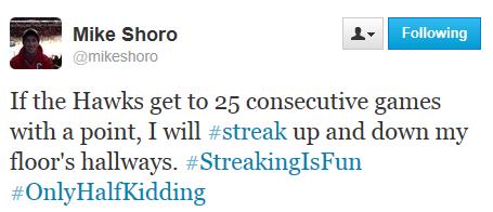 Shoro Streak tweet