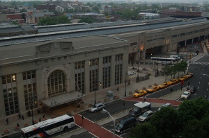 Newark Penn Station from my Hotel Room
