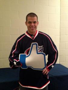 Nathan Horton, proud Blue Jacket