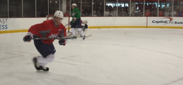 Backstrom mid stride