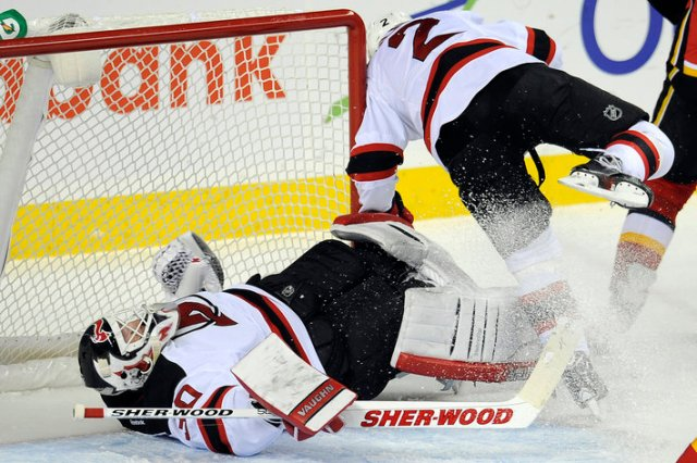 NHL: New Jersey Devils at Calgary Flames