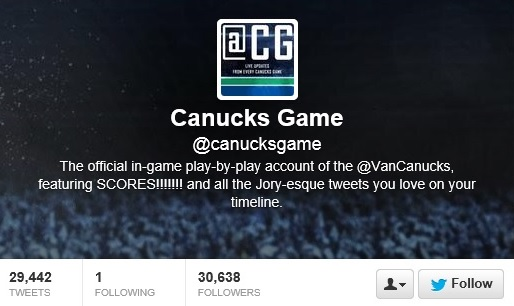 Canucks Game twitter