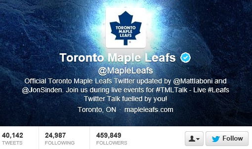 Maple Leafs twitter