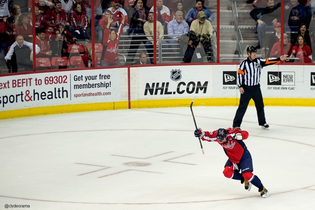 Ovechkin Celebrates His Third of Game