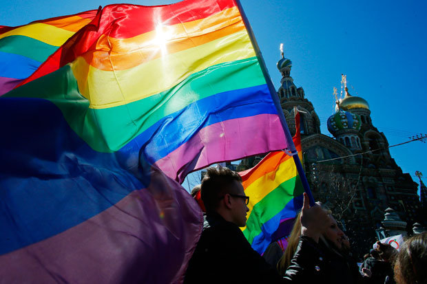 Rainbow RUS flag