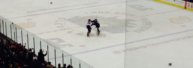 Erie Monsters Fight