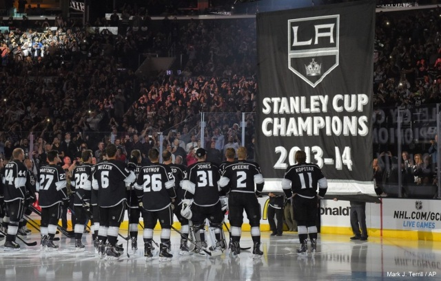 LA Kings 2014 banner Mark J. Terrill AP