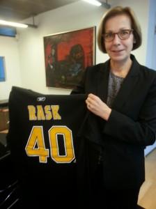 Amb. Koukku-Ronde and her Rask sweater (Doug Johnson)