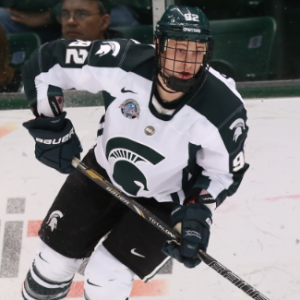 David Bondra on the ice (courtesy Michigan State University)