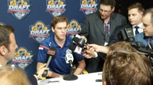 New Bolts prospect Connor McDavid faces the media (Photo: Eric Pinder)