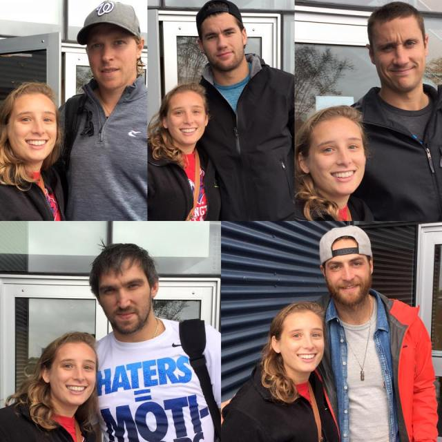 Nasty weather won't stop (clockwise from top left): Backstom, Wilson, Beagle, Holtby and Ovechkin from taking pictures with this self-described